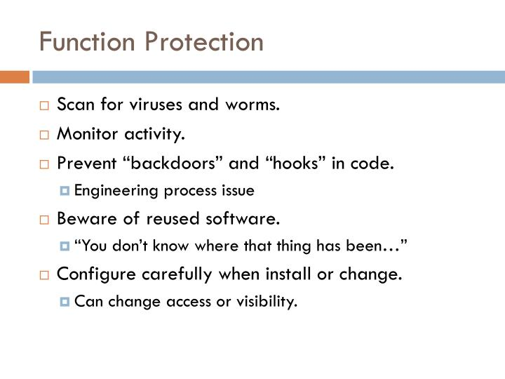 Function Protection