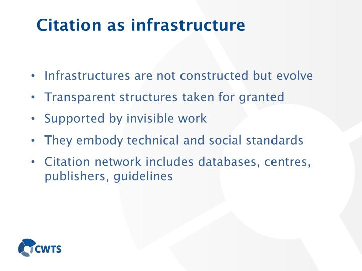 Citation as infrastructure