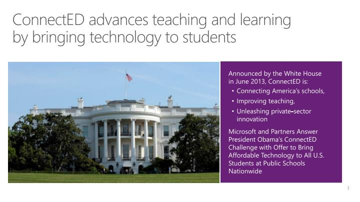 Connected advances teaching and learning by bringing technology to students