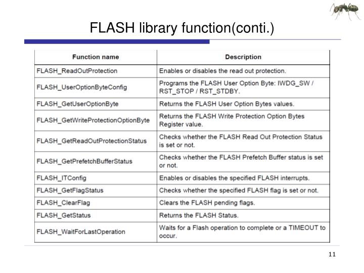FLASH library