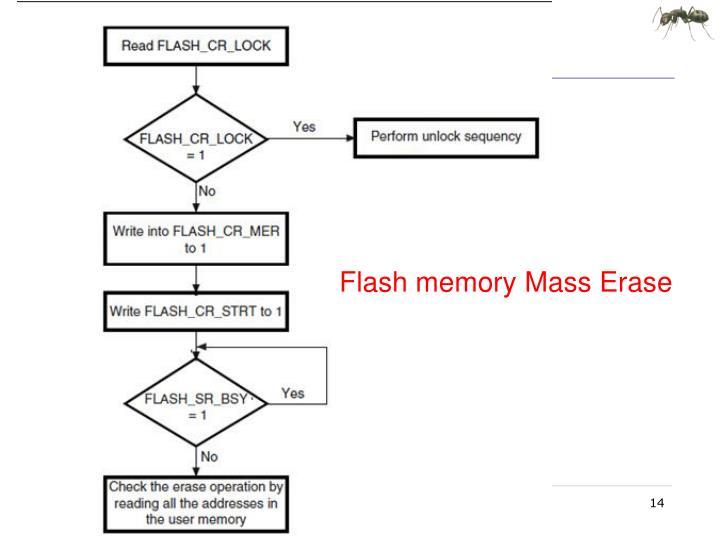 Flash memory Mass Erase