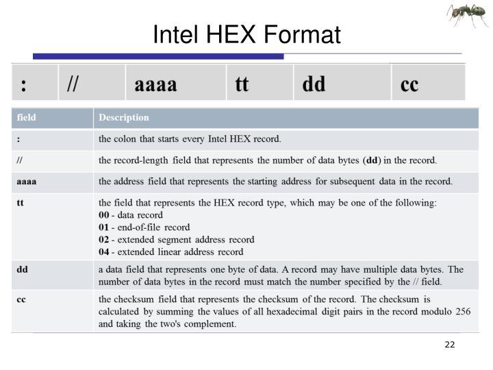 Intel HEX Format