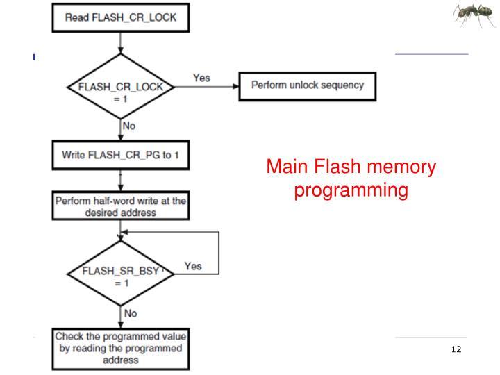 Main Flash memory programming