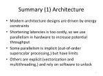 summary 1 architecture