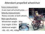 attendant propelled wheelchair