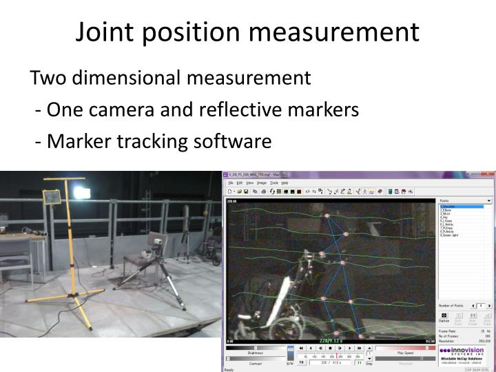 Joint position measurement