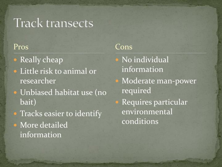 Track transects