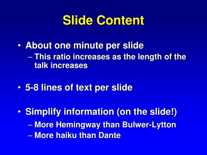 Slide Content
