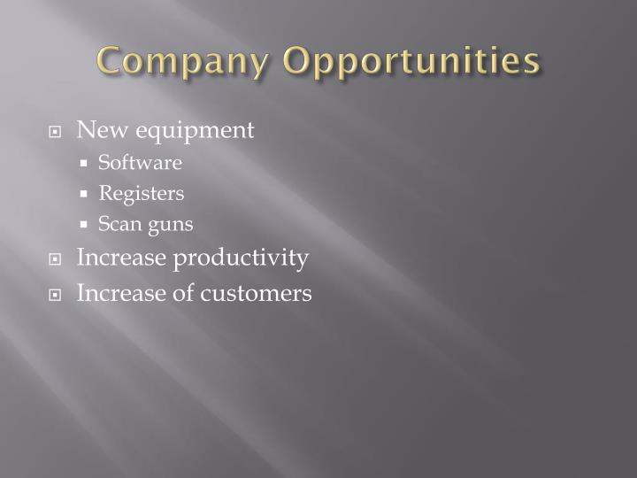 Company Opportunities