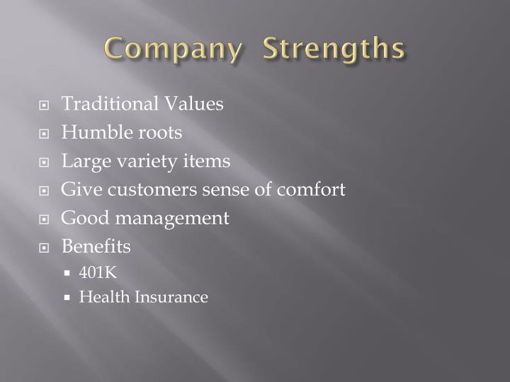 Company  Strengths