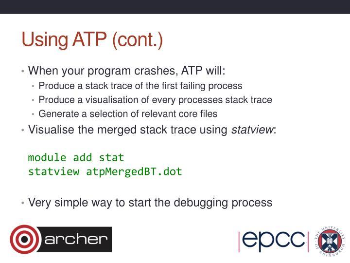 Using ATP (cont.)