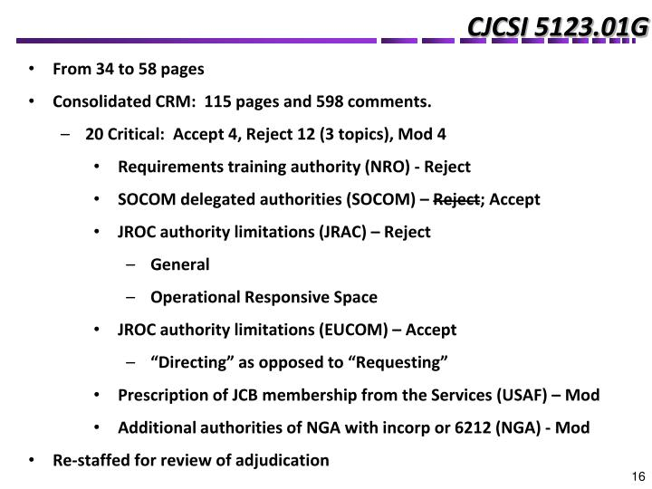CJCSI 5123.01G