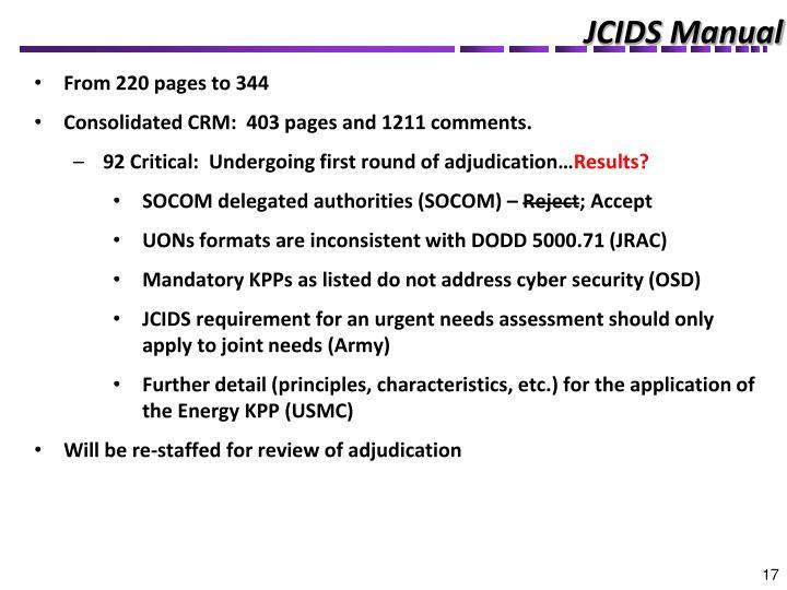 JCIDS Manual