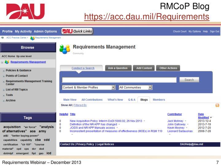 RMCoP Blog