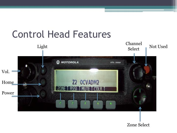 Control Head Features