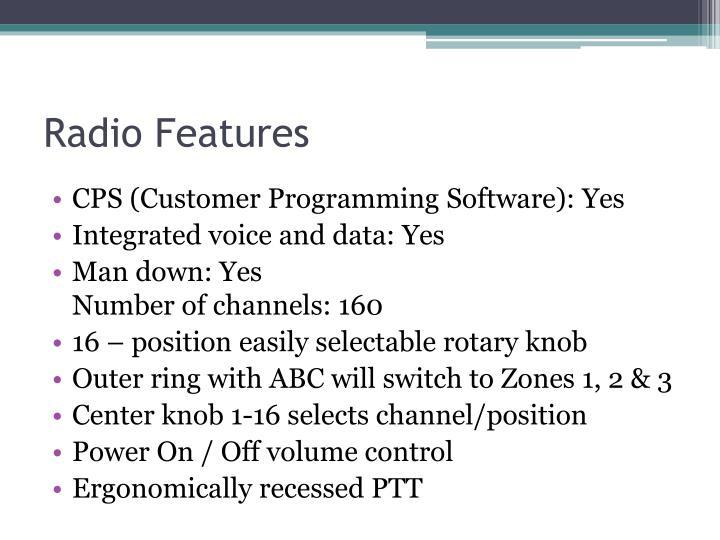 Radio Features