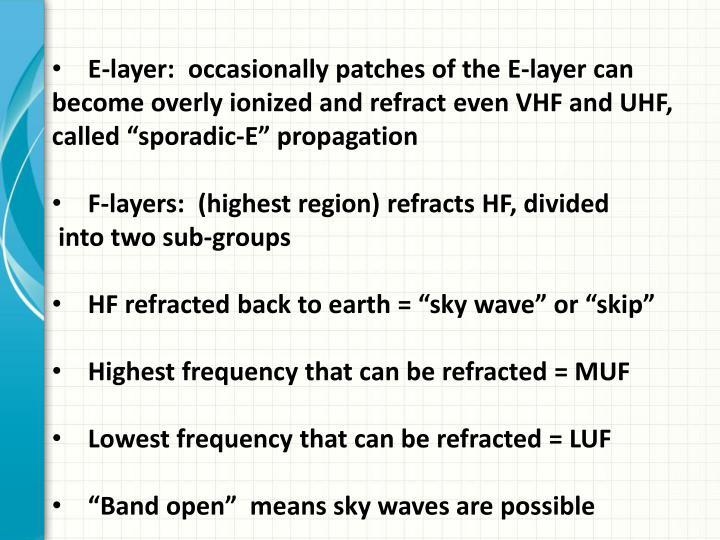 E-layer: