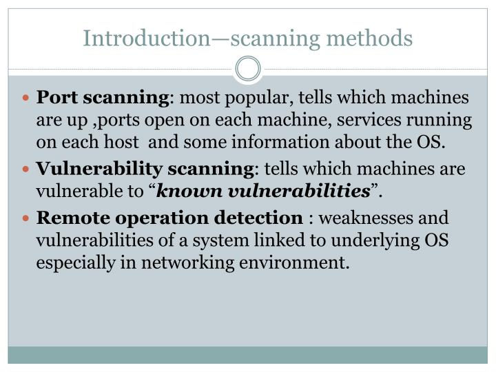 Introduction—scanning methods