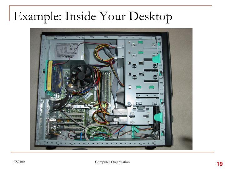 Example: Inside Your Desktop