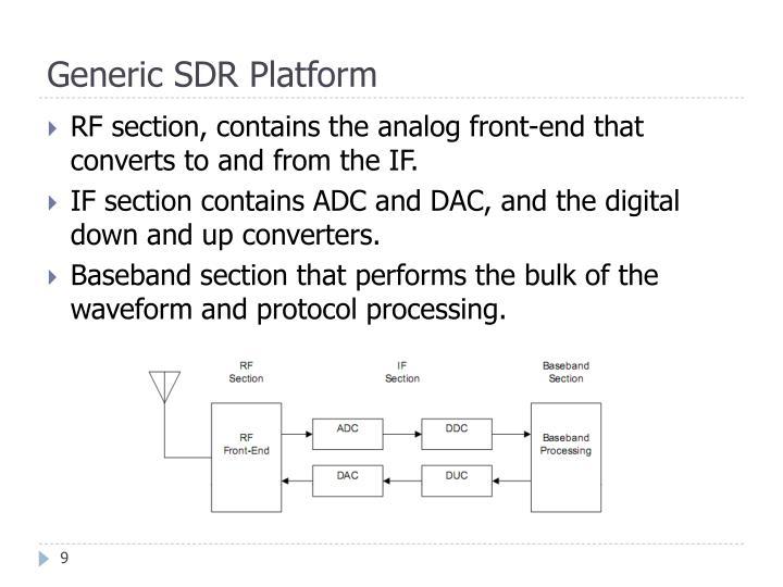 Generic SDR Platform