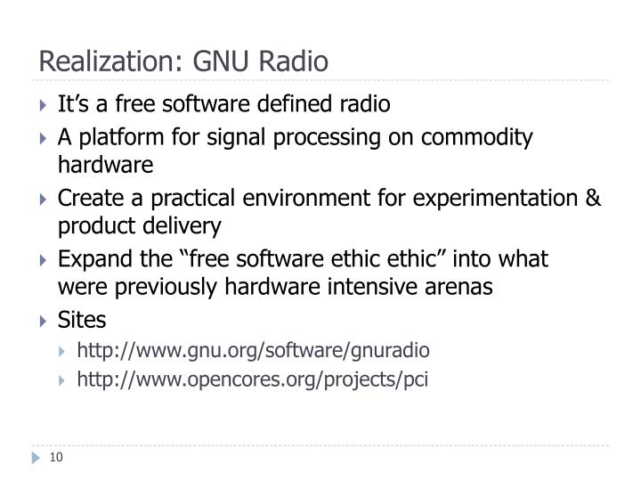 Realization: GNU Radio