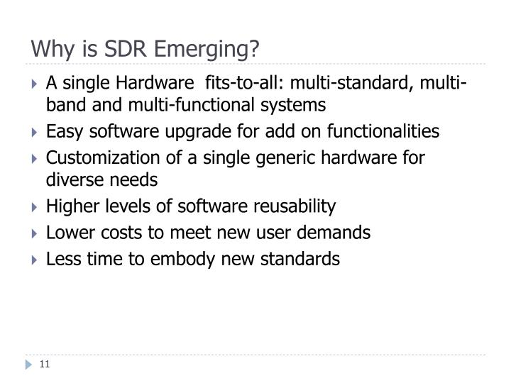 Why is SDR Emerging?