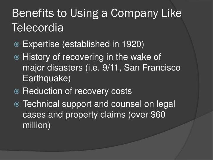 Benefits to Using a Company Like Telecordia