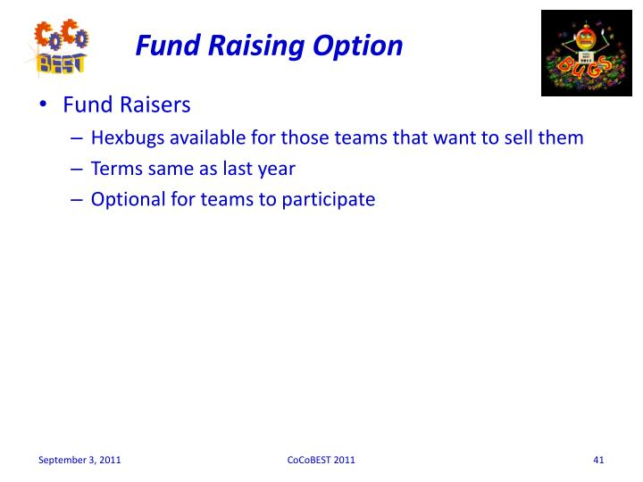 Fund Raising Option