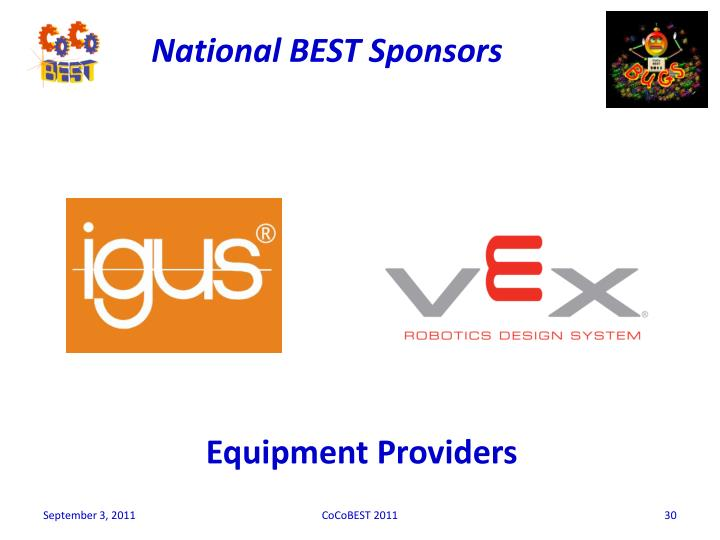 National BEST Sponsors
