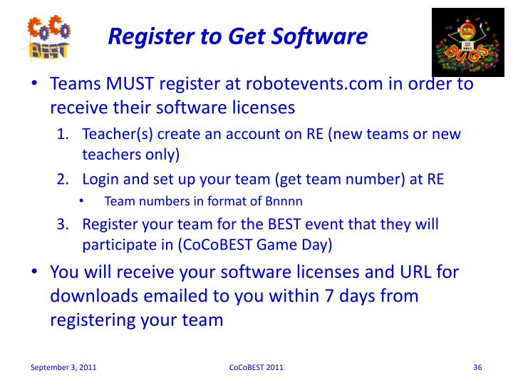 Register to Get Software