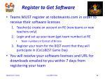 register to get software