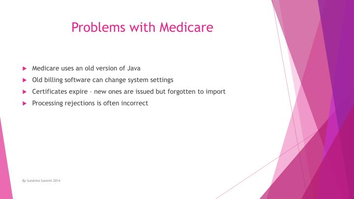Problems with Medicare