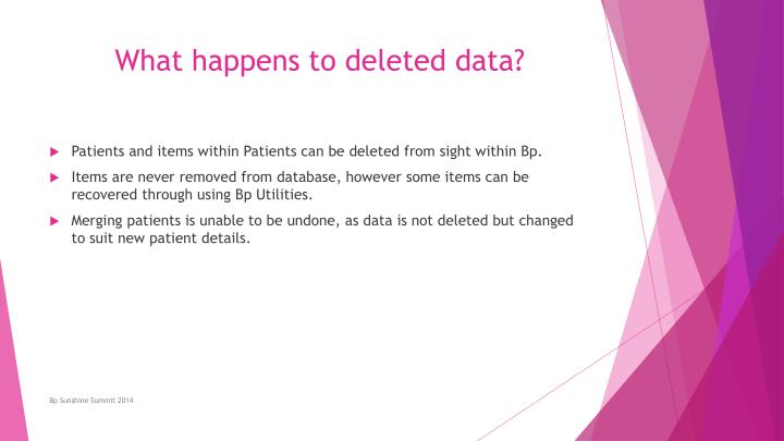What happens to deleted data?