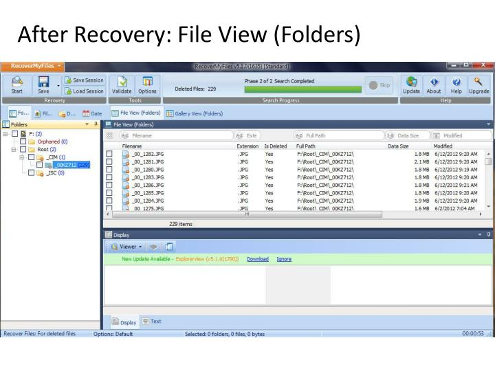After Recovery: File