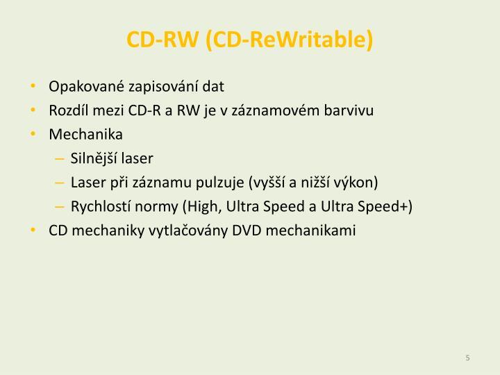 CD-RW (CD-