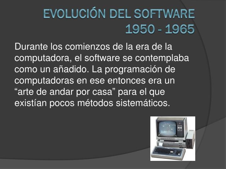 Evolución del software 1950