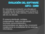 evoluci n del software 1972 1989