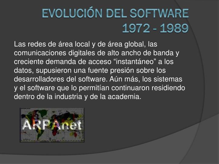 Evolución del software 1972 - 1989