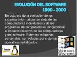 evoluci n del software 1990 2000
