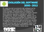 evoluci n del software 2000 2012