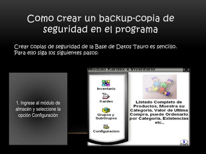 Como crear un backup-copia de