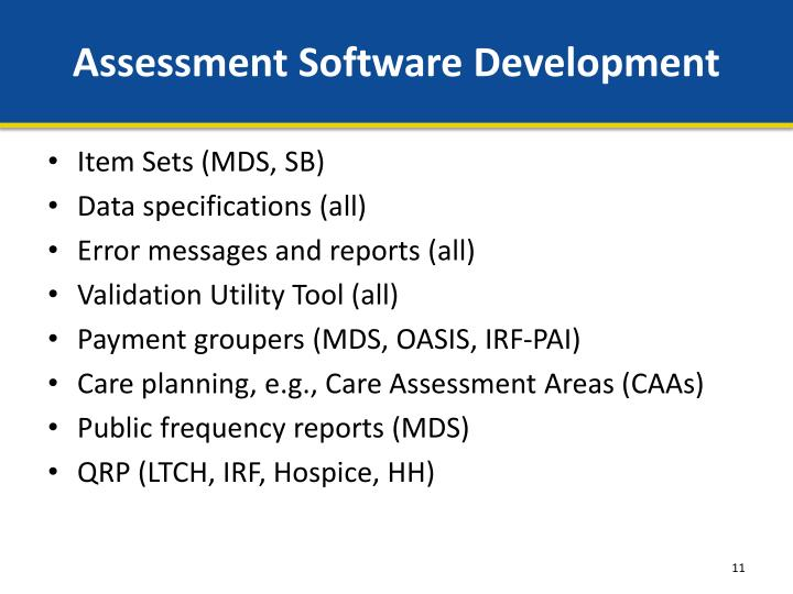 Assessment Software Development