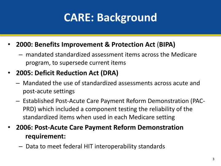 Care background