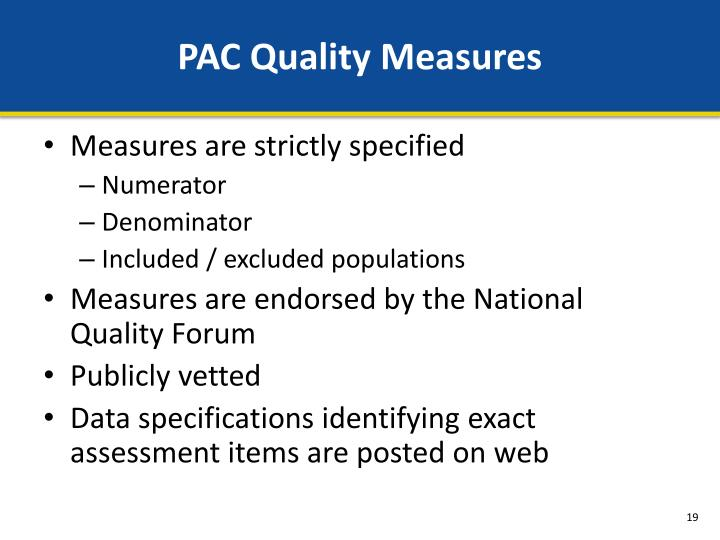 PAC Quality Measures