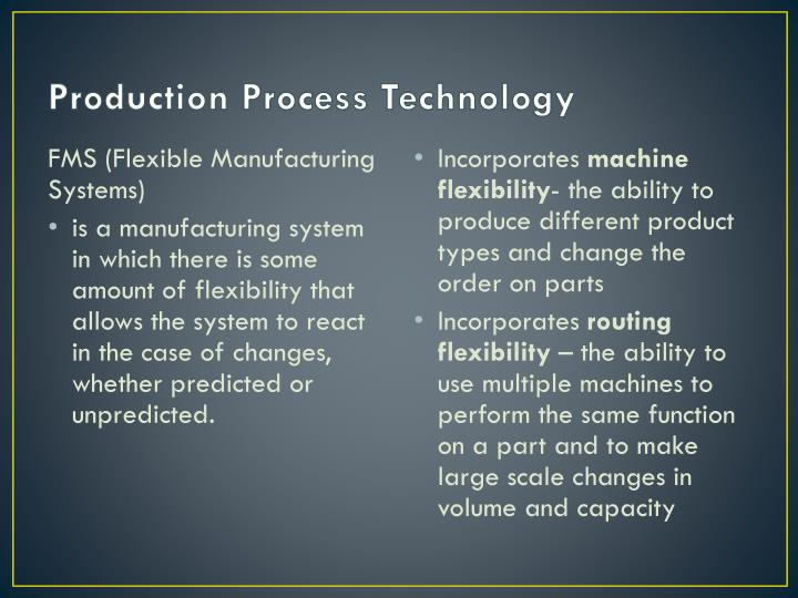 Production Process Technology