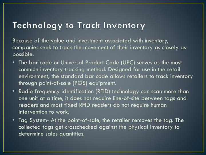 Technology to Track Inventory