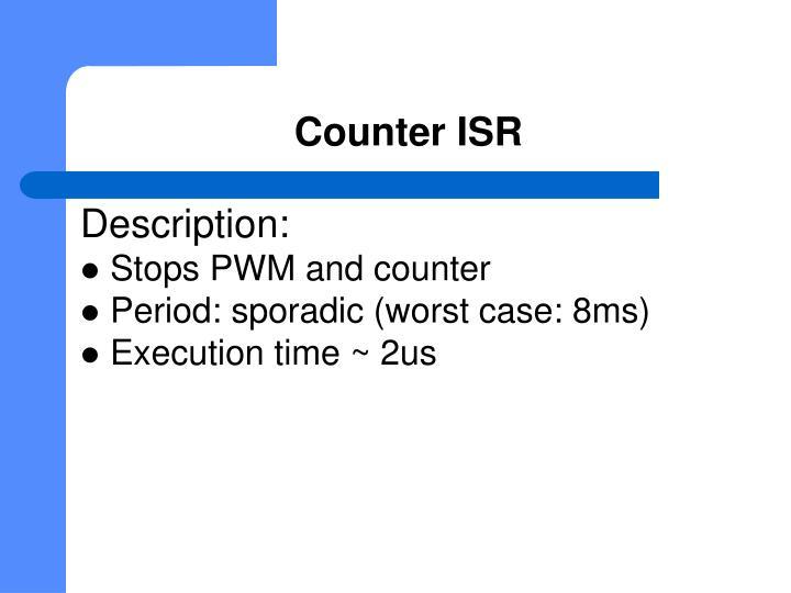 Counter ISR