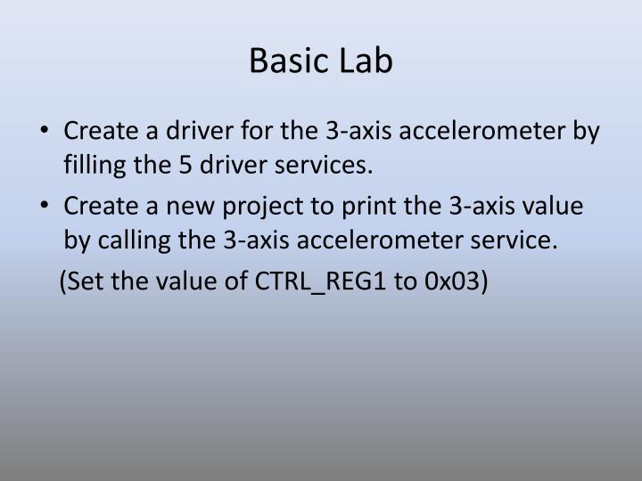 Basic Lab