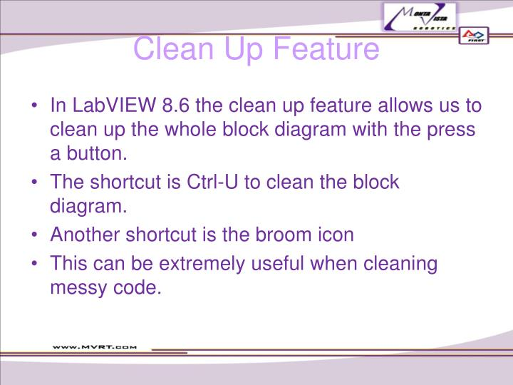 Clean Up Feature