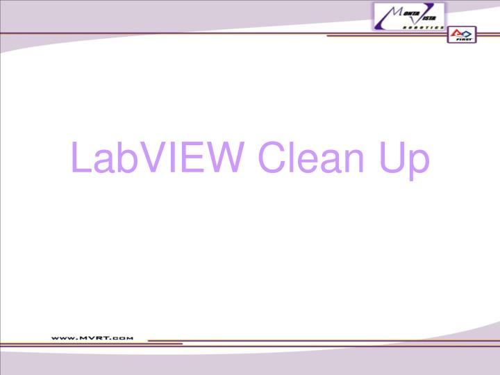 LabVIEW Clean Up